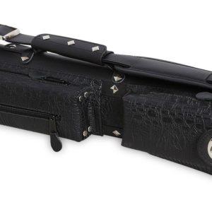 Тубус для кия QK-S Cowboy 2×2 Черный аллигатор