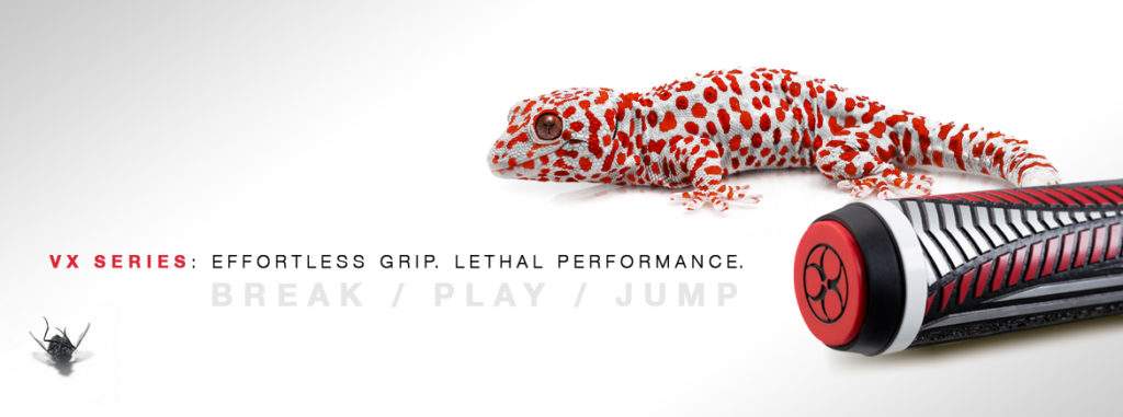 Кий для прыжка КИЙ POISON VX⁴ JUMP RED AND BLACK GTX™ GRIP 2PC ПУЛ 7,5OZ