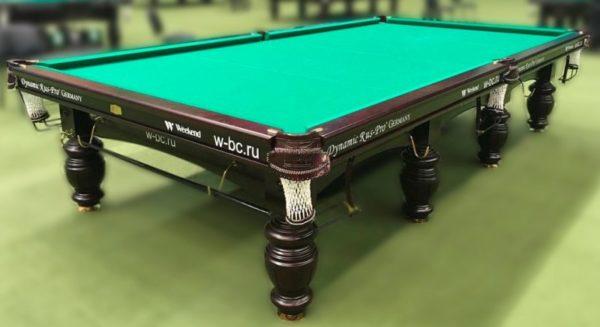 Купить бильярдный стол для русского бильярда «Dynamic Refinement» 12 ф (махагон)