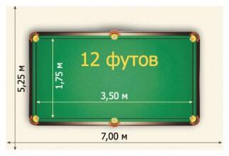 купить стол для русского бильярда 12ф