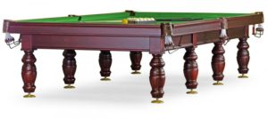 бильярдный стол для русского бильярда «Дебют» 12 ф (махагон, плита 45мм, 8 ног)