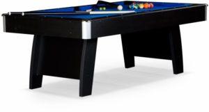 Бильярдный стол для пула «Riga» 8 ф (черный) ЛДСП