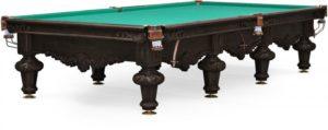 Стол для русского бильярда «Rococo» 12 ф (черный орех)