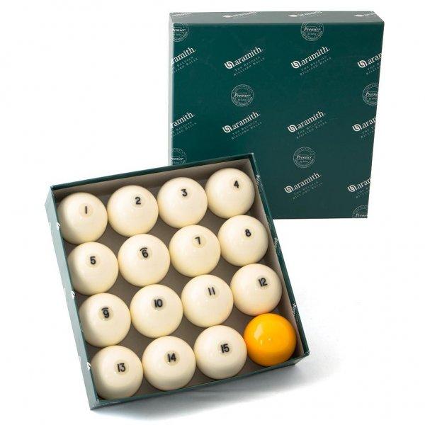 Купить комплект шаров 68 мм «Aramith Premier», желтый биток
