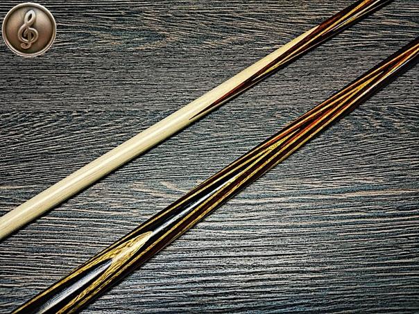 Кий для русского бильярда: венге, падук, лимонник; Классика, 15 запилов