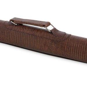 Тубус для кия QK-S Musketeer 1×1 с отделением для удлинителя коричневый аллигатор